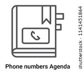 phone numbers agenda icon... | Shutterstock .eps vector #1141451864