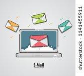 marketing design. internet mail ... | Shutterstock .eps vector #1141455911