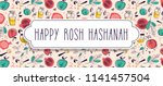 greeting banner with symbols of ... | Shutterstock .eps vector #1141457504