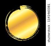 golden artistic circle grunge... | Shutterstock .eps vector #1141460381