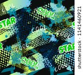 abstract seamless sport pattern ... | Shutterstock .eps vector #1141460921