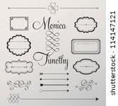 vector set  calligraphic design ... | Shutterstock .eps vector #114147121