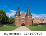 The Holsten Gate (German: Holstentor) in Luebeck, Germany (German: Lübeck). It is the most significant gate of the Middle Ages in Germany. It was constructed from 1464-1478 as a town gate.