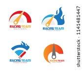 set of speedometer logo design. ...   Shutterstock .eps vector #1141481447
