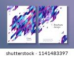 modern report cover  trendy...   Shutterstock .eps vector #1141483397