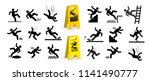 Set Of Caution Symbols With...