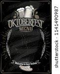 oktoberfest chalkboard menu ... | Shutterstock .eps vector #1141490987