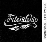 illustration for friendship day ... | Shutterstock .eps vector #1141491911