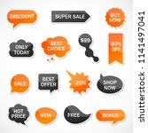 vector stickers  price tag ... | Shutterstock .eps vector #1141497041
