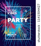 night party banner template for ... | Shutterstock .eps vector #1141504427