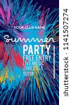 night party banner template for ... | Shutterstock .eps vector #1141507274