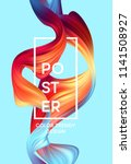 modern colorful flow poster.... | Shutterstock .eps vector #1141508927