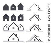 house icon set | Shutterstock .eps vector #1141514744