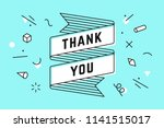 thank you. ribbon banner and... | Shutterstock . vector #1141515017
