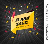 flash sale banner template... | Shutterstock .eps vector #1141518797