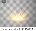 abstract gold rays rising.... | Shutterstock .eps vector #1141530197