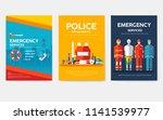 firefighter  rafting  police ... | Shutterstock .eps vector #1141539977