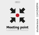vector meeting point icon ... | Shutterstock .eps vector #1141540994