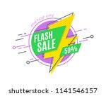 flash sale promotion banner ... | Shutterstock .eps vector #1141546157