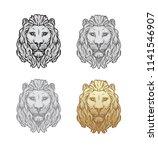 lion head logo template  lion... | Shutterstock .eps vector #1141546907