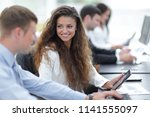 business team discussing... | Shutterstock . vector #1141555097