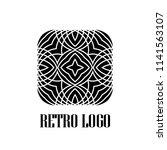 art deco vintage badge logo.... | Shutterstock .eps vector #1141563107