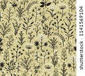 floral vector seamless pattern. ... | Shutterstock .eps vector #1141569104