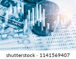 stock market or forex trading... | Shutterstock . vector #1141569407