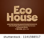vector logo with text eco house.... | Shutterstock .eps vector #1141588517