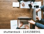 top view of business man...   Shutterstock . vector #1141588541