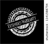 extended warranty chalk emblem | Shutterstock .eps vector #1141588754
