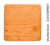 square handmade cherry wood... | Shutterstock . vector #1141589807