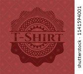 t shirt red emblem. retro | Shutterstock .eps vector #1141594001