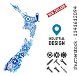 service new zealand map... | Shutterstock .eps vector #1141612094