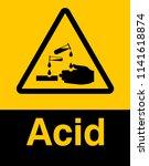 corrosive substance sign vector ... | Shutterstock .eps vector #1141618874