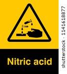 corrosive substance sign vector ... | Shutterstock .eps vector #1141618877