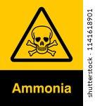 danger sign with skull symbol....   Shutterstock .eps vector #1141618901