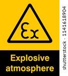 dangrous corrosive substance... | Shutterstock .eps vector #1141618904