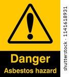 dangrous corrosive substance... | Shutterstock .eps vector #1141618931