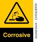 corrosive substance sign vector ... | Shutterstock .eps vector #1141618934