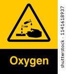 dangrous corrosive substance... | Shutterstock .eps vector #1141618937