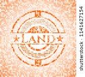 land abstract orange mosaic... | Shutterstock .eps vector #1141627154