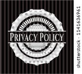 privacy policy silver emblem | Shutterstock .eps vector #1141636961