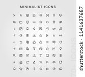 70  minimal ui icon set.  ...