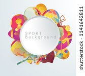circle 3d on color sport... | Shutterstock .eps vector #1141642811