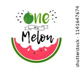 cute love print with watermelon ... | Shutterstock .eps vector #1141647674