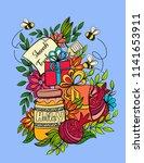 rosh hashanah   jewish new year ... | Shutterstock .eps vector #1141653911