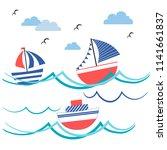 cartoon illustration with... | Shutterstock .eps vector #1141661837