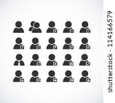 set of web user icons. vector... | Shutterstock .eps vector #114166579