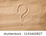 the question mark is sand... | Shutterstock . vector #1141665827